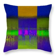 Deep Blue Landscape Throw Pillow