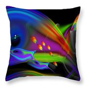 Deep Blue Marine Life Throw Pillow