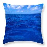 Deep Blue Ocean Throw Pillow