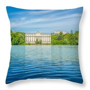 Deep Blue Salzburg Throw Pillow