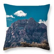 Deep Blue Sky Canyon Throw Pillow