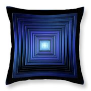 Deep Blue Solstice Throw Pillow