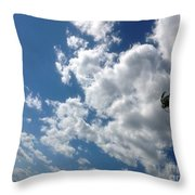 Deep Blue With Lovely Clouds Throw Pillow
