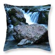 Deep Creek Flowing Between The Rocks Throw Pillow