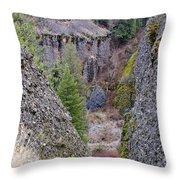 Deep Creek Gorge Throw Pillow