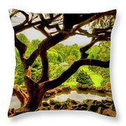 Deep Cuts Gazebo Between The Tree Branches Throw Pillow