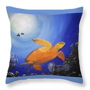 Deep Dive Throw Pillow