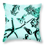 Deep Divers Display Throw Pillow