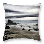 Deep Evening At The Beach Throw Pillow