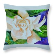 Deep Gardenia Throw Pillow