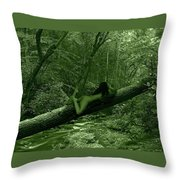 Deep Green  Throw Pillow