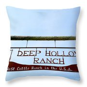 Deep Hollow Ranch Throw Pillow
