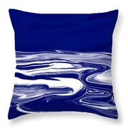 Deep In Blue Throw Pillow