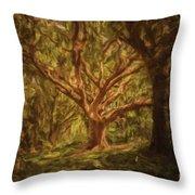 Deep In Sherwood Throw Pillow