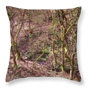 Deep In Woods Throw Pillow