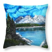 Deep Mountain Lake Throw Pillow