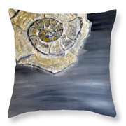 Deep Ocean Seashell Throw Pillow