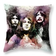 Deep Purple.rock Stars Throw Pillow