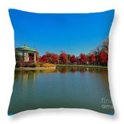 Deep Red At The Muny Throw Pillow