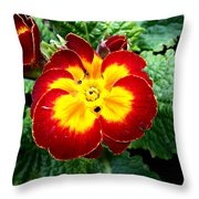 Deep Red Bright Yellow Throw Pillow