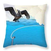Deep Sea Fishing Throw Pillow