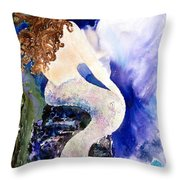 Deep Sea Tranquility Throw Pillow