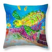 Deep Sea Treasures Throw Pillow