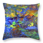 Deep Space Abstract Art Throw Pillow