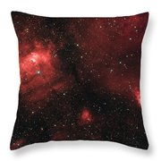 Deep Space Bubble Nebula Ngc 7635 In Constellation Cassiopeia Throw Pillow