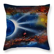Deep Space Cavern Throw Pillow