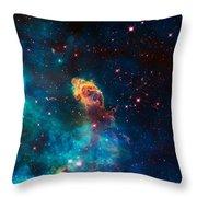 Deep Space Smoke Throw Pillow
