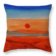 Deep Sunset Throw Pillow