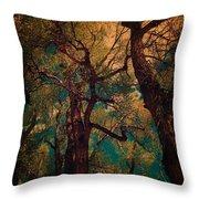 Deep Trees Throw Pillow