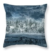 Deep Winter Throw Pillow