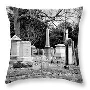 Deep Within Evergreen Cemetery Throw Pillow