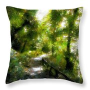 Deeper Into The Greenwood Throw Pillow
