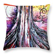 Deeply Rooted II Throw Pillow