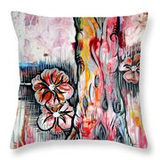 Deeply Rooted V Throw Pillow