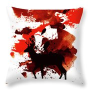 Deer Art Night Throw Pillow