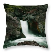 Deer Creek Falls Throw Pillow