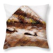 Deer Crossing One Throw Pillow