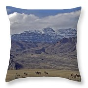 Deer Elk And Jim Mountain-signed Throw Pillow
