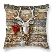 Deer Heart - Hirschherz Throw Pillow