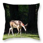 Deer In Shadows Throw Pillow