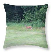 Deer In The Midst Throw Pillow