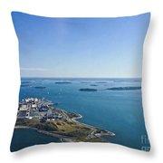 Deer Island In Boston Harbor 14bosl027 Throw Pillow