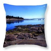 Deer Isle Sunday Throw Pillow