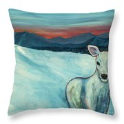 Deer Jud Throw Pillow by Angelique Bowman
