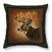 Deer Lodge Throw Pillow