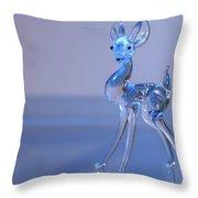 Deer Made Of Glass Throw Pillow
